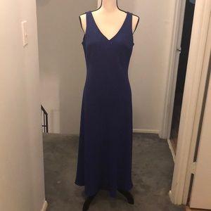 Purple evening dress.